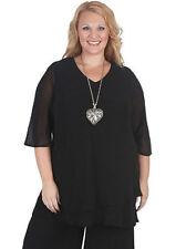 Chiffon V-Neckline 3/4 Sleeve Solid Tops & Blouses for Women