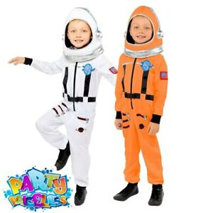 Kids Astronaut Costume Spaceman Boys Space Suit Book Week Day Fancy Dress Outfit