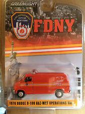 Greenlight  FDNY 76' Dodge B-100 HAZ-MAT Van City of New York Fire Dept.