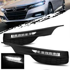 For 16-18 Honda Accord Sedan Full LED Fog Lights Bumper Driving Lamps + Switch