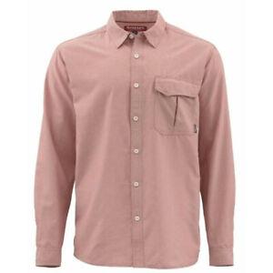 "Simms Fishing ""M.T.H."" L/S Sport Shirt, NWT - Mens Large - UPF 30, Conch Shell"