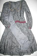 Traffic People Nostalgie  Dress  Kleid  Cotton / Silk  Grey    Size: S  Neu