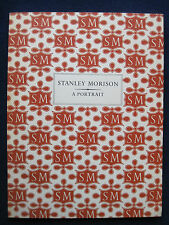 STANLEY MORISON Original London Exhibition Catalogue TYPOGRAPHY 1st Ed.