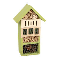 LEGLER Small Foot Green Wooden Insect Hotel for Wildlife Garden, Unisex, 3 Years