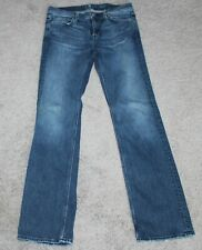 7 For All Mankind FLYNT Denim Jeans Women's 32x33 Distressed Blue 32 Bootcut