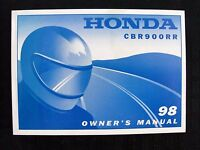 GENUINE 1998 HONDA 900 CBR900RR MOTORCYCLE OPERATORS MANUAL VERY NICE