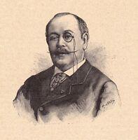 Portrait XIXe Aurélien Scholl Bordeaux Gironde Écrivain Romancier