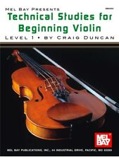 Technical Studies For Beginning Violin Learn to Play MUSIC BOOK Violin