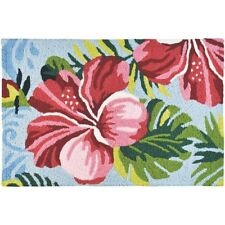 """""""Hibiscus Garden"""" Area Rug 21""""x33"""" Indoor/Outdoor Machine Washable"""
