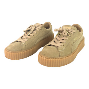 PUMA Women's Size 9 Brown Suede Platform Laced Sneakers Shoes
