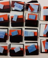 Fusion de Verre Couleurs mélangées Scrap Pack 4, 50 G moderniste style Coe 96 verre pieces