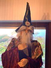 Marionette Merlin Zauberer, wunderschön! - Gesamtgröße: 1.80 m