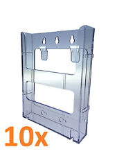 10x Wall Mounted A5 Brochure Holder EXTENDABLE