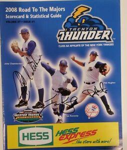 2008 TRENTON THUNDER Signed Game Program, Chamberlain, Kennedy, Hughes. COA
