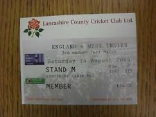 14/08/2004 Cricket Ticket: England v West Indies [At Lancashire] . Item in very
