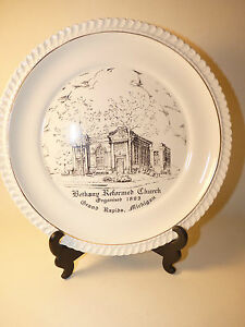 "1953 BETHANY REFORMED CHURCH GRAND RAPIDS MICHIGAN 9"" Collectible Plate 66 yrold"