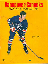 1970 JANUARY 23 VANCOUVER CANUCKS HOCKEY WHL PROGRAM VS SEATTLE TOTEMS