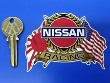 NISSAN USA & Japanese Flags & Scroll style car sticker