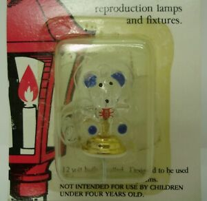 Dollhouse Miniature – Teddy Bear Lamp – 12 V - Town Square Lighting & Lamps