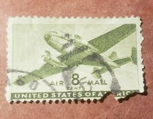 GM46 U.S.Air Mail 8 Cent 1935-1944 Used Stamp