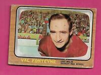 1966-67 TOPPS # 108 WINGS VAL FONTEYNE  CREASED  CARD (INV# C3112)