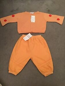Bnwt Mexx Baby Girls Apricot Cardigan And Trousers Age 4 - 6 Months