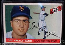 1955 Topps JOE AMALFITANO #144 Baseball Card-VG/EX Condition-NEW YORK GIANTS