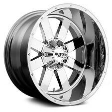 20x10 CHROME wheels MOTO METAL 962 1999-2017 LIFTED FORD F250 F350 8X170 -24mm