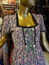 Kleid Folklore Dirndl S-M 50er Blumen TRUE VINTAGE 50s floral bavarian dress