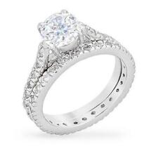 3.5 CW 2 Ct Round Solitaire CZ Bridal Engagement Endless Eternity Ring Set S 7