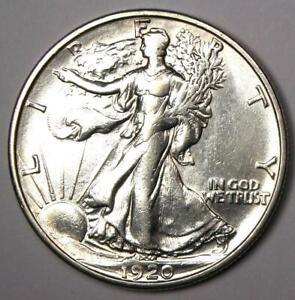 1920-S Walking Liberty Half Dollar 50C Coin - XF / AU Details - Rare Date!