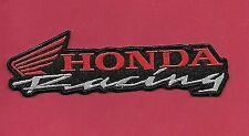 "Honda Racing 'black' 1 3/4 X 6"" Inch Iron on Patch"