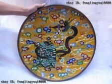 20 INCH Chinese Copper cloisonne enamel Royal Palace Dragon Play bell dish Plate