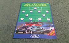 1998 FORD WORLD CUP FOOTBALL UK BROCHURE PUMA ESCORT FIESTA EXPLORER KA COUGAR