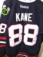 Chicago Blackhawks Patrick Kane NHL Center Ice Hockey Jersey Size 52 RBK Reebok