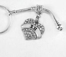 RN Key chain RN keychain Registered Nurse jewelry Best RN gift  Nurse present