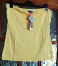BNWT LIPSY Sunshine LEMON YELLOW Soft Stretchy RUCHED Strapless BANDEAU Top 18