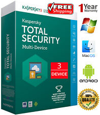 KASPERSKY TOTAL Security 2018  / 3 DEVICE / 1 Year /  For US  /  Download 14.45$