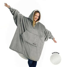 THE COMFY Original Oversized Microfiber Sherpa Wearable Blanket Gray NEW