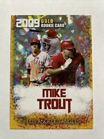 Mike Trout 2009 Gold Cracked Ice Rookie Limited Edition Card L.A. Angels GOAT