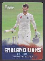 Tap N Play - England Cricket 2018 - Base # 30 Ben Foakes - Surrey