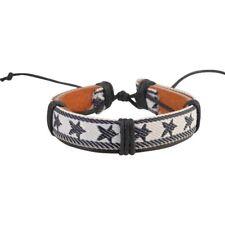 Stars Handmade Genuine Leather Bracelet for Men Punk Surfer Braided Bracelet