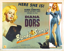 "Blonde Sinner Movie Poster Replica 11x14"" Photo Print"