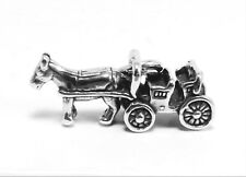 Sterling Silver Horse and Carriage Charm -0223