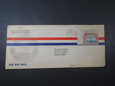1930 VIA AIR MAIL FIRST FLIGHT NEW YORK LOS ANGELES ROUTE ENVELOPE COVER STAMP