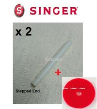 x2 SINGER SEWING MACHINE PLASTIC PUSH IN SPOOL COTTON PIN +FELTS 237 239 242 etc