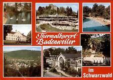 79410 Badenweiler  - Burgruine mit Kurhaus - Cassiopeia-Therme - Freibad  - 1980