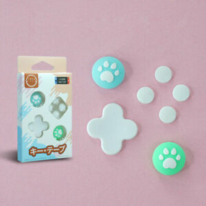 For Nintendo Switch Accessories Cat Paw Thumb Grip Caps+ABXY Direction Keys Case