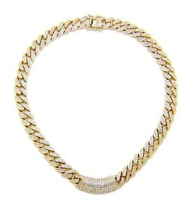 "New Ice Bling 12mm 18"" or 20"" Miami Cuban Link Chain"