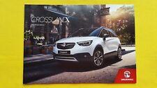 Vauxhall Crossland X SUV SE Elite Tech brochure catalogue July 2017 MINT Opel